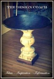 the design coach - custom pedestal table