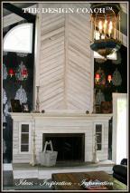 Whitewash Barnwood Fireplace