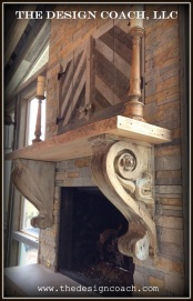 The Design Coach - Reclaimed Wood Fireplace & Mantel