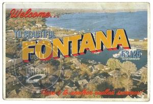 Fontana Aerial Postcard
