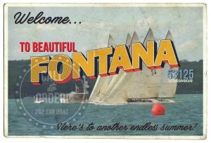 Fontana Sailing Postcard