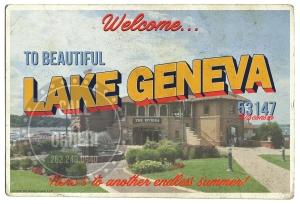 Lake Geneva Riviera Postcard