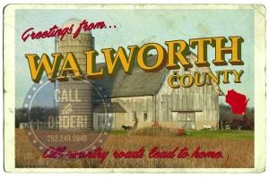 Walworth Serif White Barn Postcard